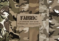 20 Camouflage Fabric Texture PS Brushes