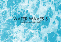 Free Water Waves Photoshop Brushes 5