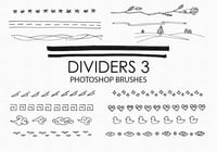 Free Hand Drawn Dividers Pinceles para Photoshop 3