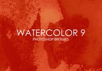 Gratis Watercolor Photoshop Borstels 9
