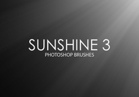 Gratis Sunshine Pinceles para Photoshop 3