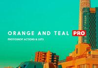 Orange und Teal Actions