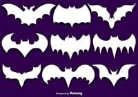 Borstel Set Of Bat Silhouettes