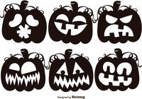 Ensemble de Black Jack O Lantern Silhouettes Brushes