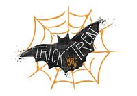 Trick eller Treat Bat Akvarell PSD