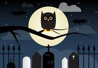 Coruja psd de Halloween