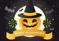 Jackolantern Witch PSD Background