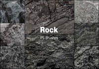 20 Rock Texture PS Pinceles abr vol.12