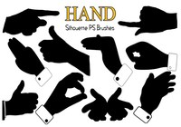 20 Silhouette Hand PS Brushes abr