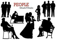20 Personnes Silhouette PS Brushes vol.2
