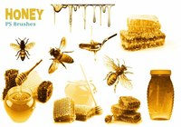 20 Honey PS Brushes abr.  vol.2