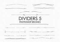 Free Hand Drawn Dividers Pinceles para Photoshop 5