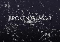 Brosses de photoshop en verre cassées gratuites 8