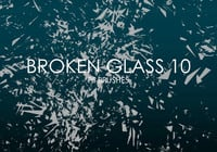 Free Broken Glass Pinceles para Photoshop 10
