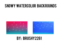 Snowy Water Color Backgrounds