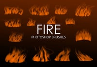 Free Digital Fire Photoshop Brushes