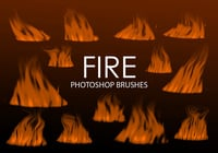Gratis Digital Fire Photoshop Brushes 2