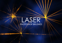 Escovas gratuitas do Photoshop Laser