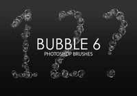 Escovas gratuitas do bubble photoshop 6