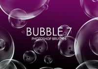 Gratis Bubble Pinceles para Photoshop 7