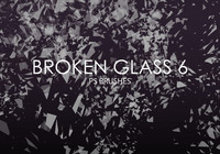 Gratis Broken Glass Pinceles para Photoshop 6