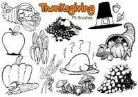 20 Thanksgiving PS Brushes abr. Vol.2