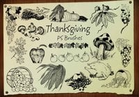 20 Thanksgiving Engraved PS Brushes abr. Vol.3