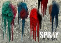 20 Spray Wet Drips PS Brushes Vol.16