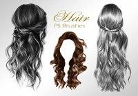 20 Hair Female PS Brushes abr. vol.1