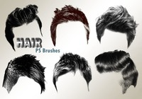 20 Hair Male PS Brushes abr. vol.2