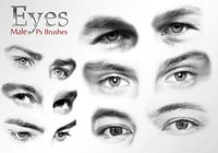 20 Olhos Masculinos Ps Brushes vol.3