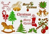 20 Christmas Vintage PS Pinceles abr. Vol.2