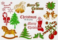 20 Christmas Vintage PS Brushes abr. Vol.2