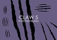 Pinceaux photoshop claw gratuite 5