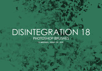 Free Disintegration Photoshop Brushes 18