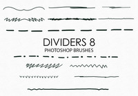Free Hand Drawn Dividers Pinceles para Photoshop 8