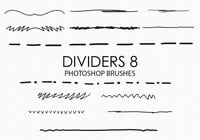 Free Hand Drawn Dividers Photoshop Pinsel 8