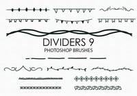 Free Hand Drawn Dividers Pinceles para Photoshop 9