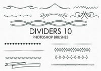 Free Hand Drawn Dividers Photoshop Pinsel 10