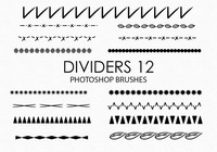 Free Hand Drawn Dividers Pinceles para Photoshop 12