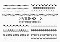 Gratis Handgetekende Dividers Photoshop Borstels 13