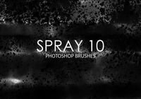 Escovas gratuitas do photoshop de spray 10