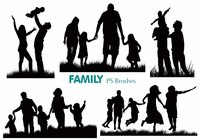 20 Family Silhouette PS Brushes abr.vol.2