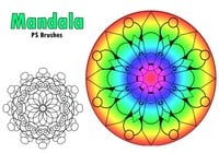 20 Mandala PS Brushes abr. Vol.2