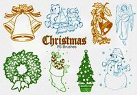 20 Christmas Vintage PS Brushes abr. Vol.1