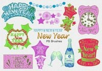 20 New Year PS Brushes abr. Vol.2