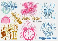20 New Year PS Brushes abr. Vol.3