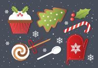 Elementos De Vector De Navidad