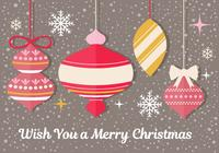 Christmas Ornament PSD Greeting Card
