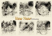20 New Year PS Brushes abr. Vol.4